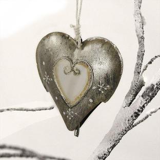 Sparkle Heart Bell Decoration