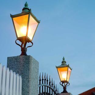 Chelsea Grande Outdoor Pedestal Lanterns