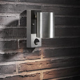 Tin Outdoor Wall Lighting with Sensor