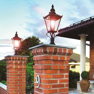 Chelsea Outdoor Pedestal Lanterns