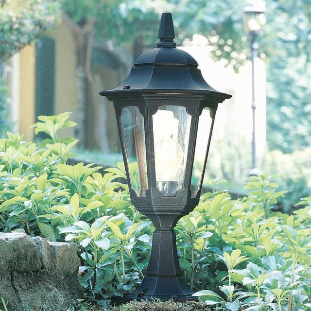 Parish Mini Pedestal Lantern: Buy Parish Outdoor Pedestal Lantern By Elstead Lighting