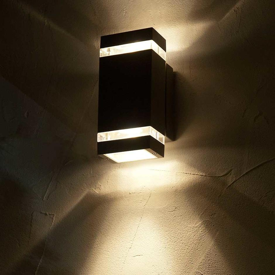 Buy Focus Outdoor Led Up Down Wall Light By Elstead Lighting The Worm That Turned Revitalising Your Outdoor Space