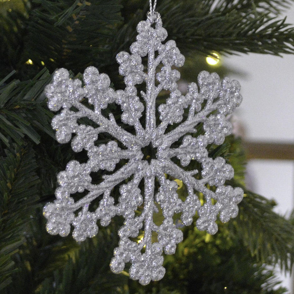 Glitter Snowflake Decorations