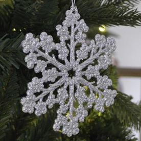 Glitter Snowflake Decorations