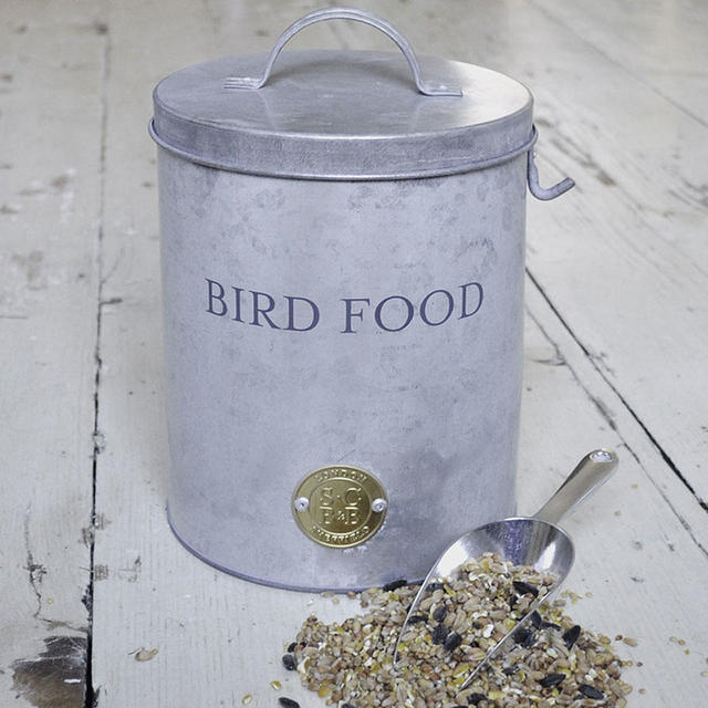 buy galvanised bird food tin the worm that turned