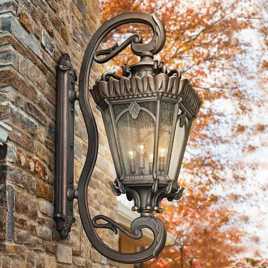 Tournai Grand Outdoor Wall Lanterns