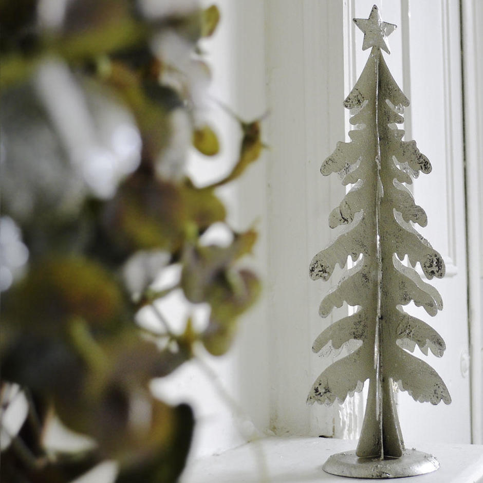 3D Silver Tree Decoration
