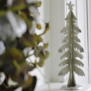 3D Silver Tree Decoration