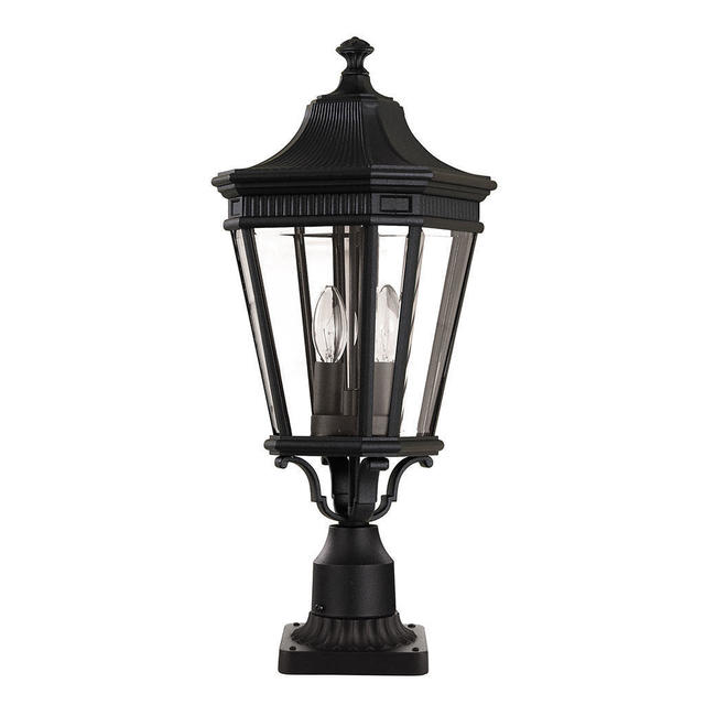 Baton Rouge Outdoor Pedestal Lantern By Feiss: Buy Cotswold Lane Outdoor Pedestal Lanterns By Feiss