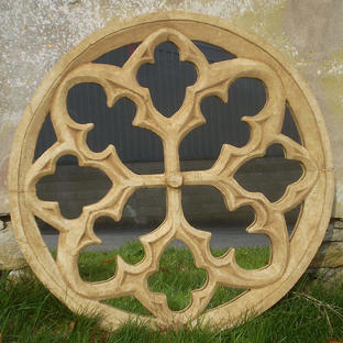 Large Gothic Rose Garden Mirror