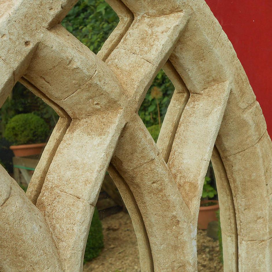 Gothic Triple Arch Garden Mirror