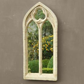 Gothic Double Arch Garden Mirror