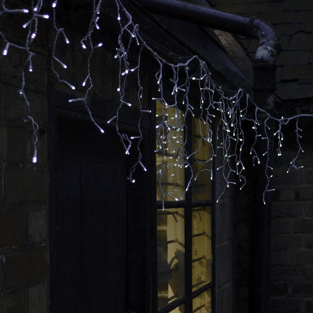 buy outdoor hanging led icicle lights the worm that. Black Bedroom Furniture Sets. Home Design Ideas