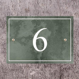 Smooth Slate House Numbers
