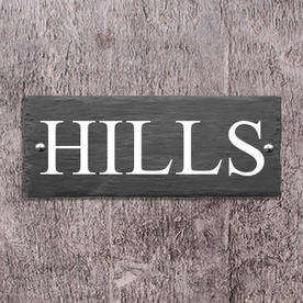 Rustic Slate One Line House Signs