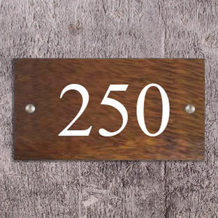 Solid Wood House Numbers