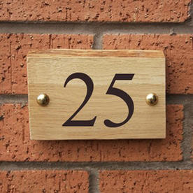 Rustic Oak House Numbers