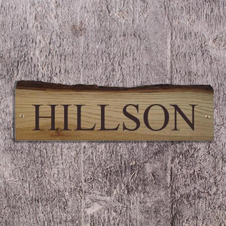 Rustic Oak House Signs