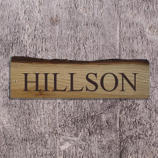 Rustic Oak House Signs