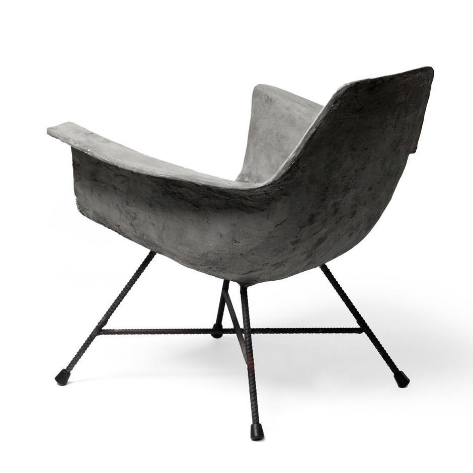 Cement Arm Chairs ~ Buy hauteville concrete low armchair — the worm that