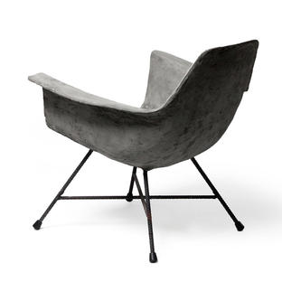 Hauteville Concrete Low Armchair