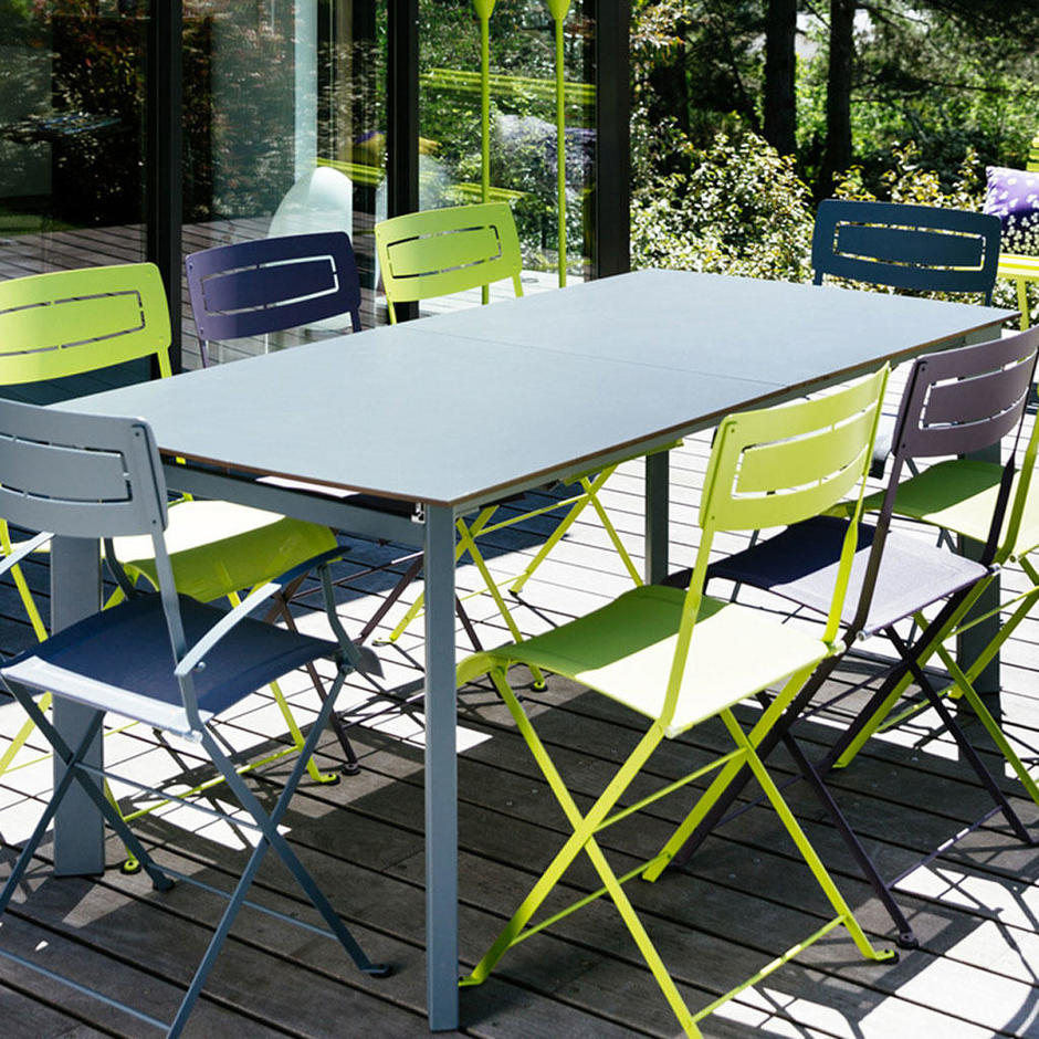 Buy slim table by fermob outdoor furniture the worm that for Fermob table de jardin