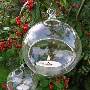 Glass Bauble Tea-Light Holder