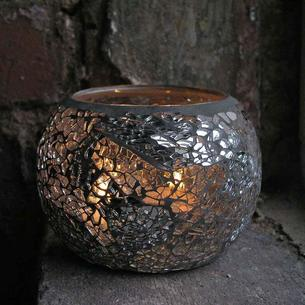 Mosaic Round Tea-Light Holder