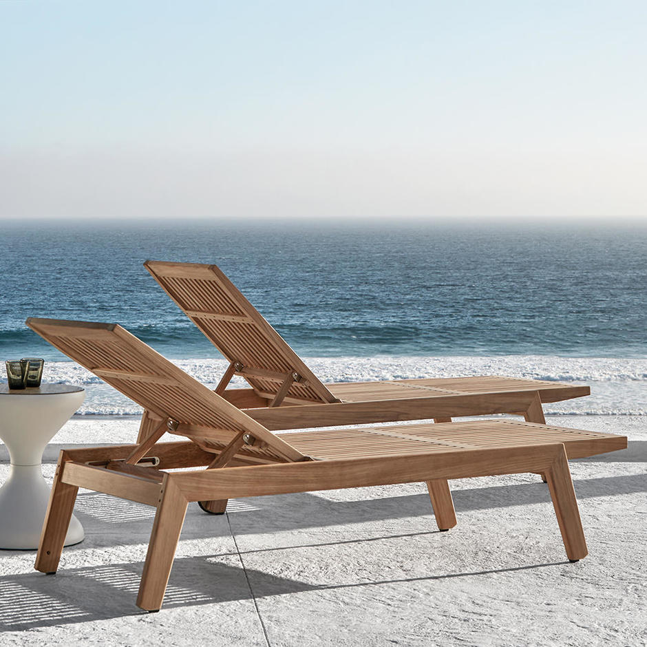 Solana Buffed Teak Lounger
