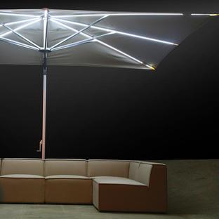 Sunrise Cantilever Parasol with LED Lights