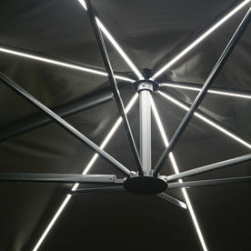 Sunset Rectangular Cantilever Parasol with LED Lights