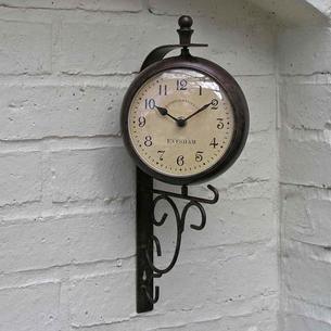 Evesham Outdoor Clock/Thermometer