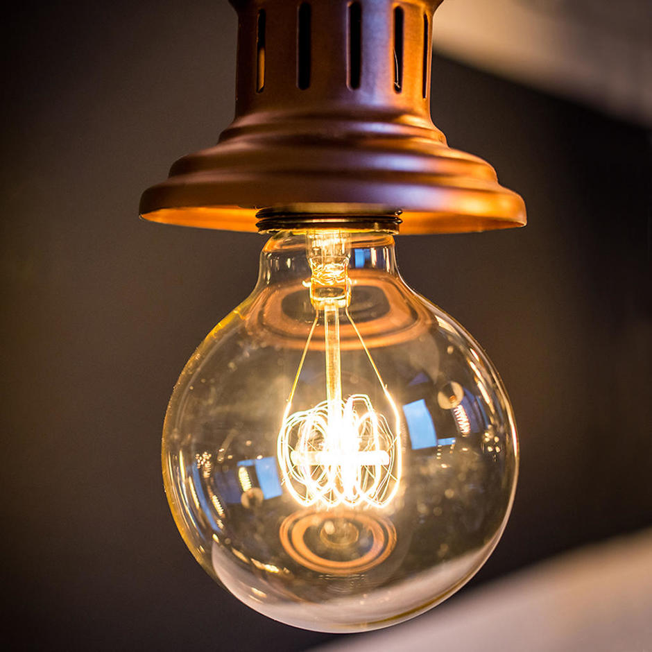 Large Globe Quad Loop Filament Light Bulb