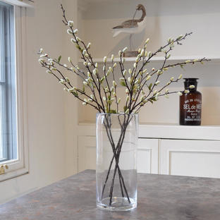 Tall Bubble Glass Vase