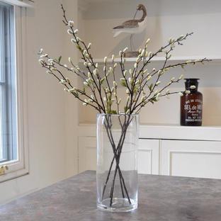 Tall Bubble Glass Vase