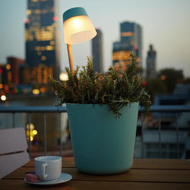 Table Planter with LED Light