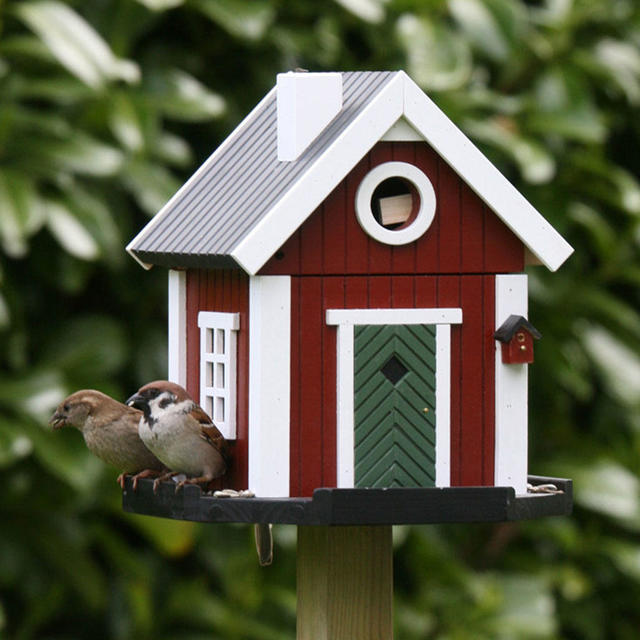 Red Cottage Bird House The Worm That Turned