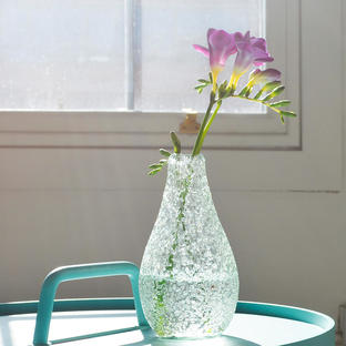 Recycled Glass Lava Vase