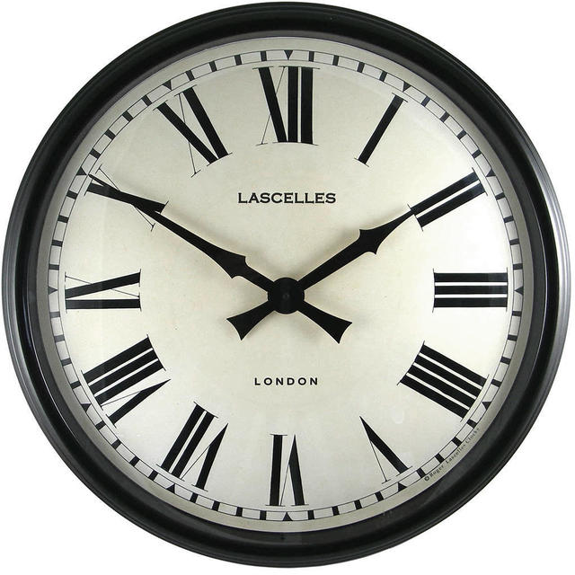 Buy Large Black Cased Metal Wall Clock The Worm That