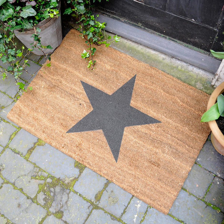 Buy Large Black Star Coir Doormat The Worm That Turned