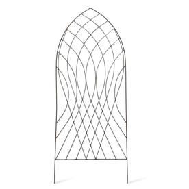 Raw Metal Arch Trellis