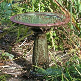Verses Bird Bath & Stand
