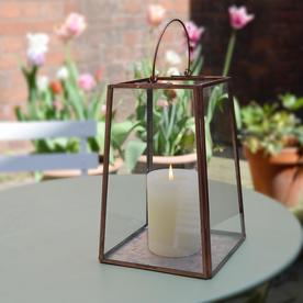 Copper Mirrored Lantern