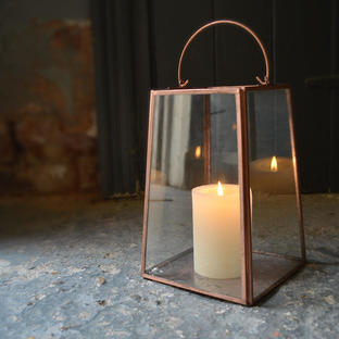 Copper Mirrored Lantern