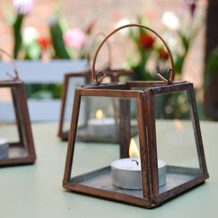 Mini Copper Tealight Lantern