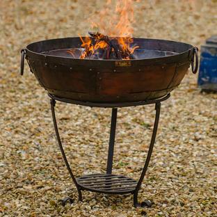 Kadai Firebowl Set with High and Low Stand