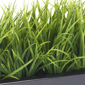 Window Box with Faux Grass Bush