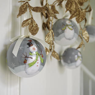 Boxed Set of 7 Decoupage Baubles