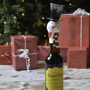 Snowman Wine Bottle Top
