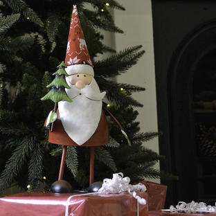 Red Bouncing Santa with Tree